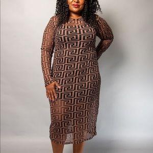 Dresses & Skirts - Fendi Mocha Mesh Dress